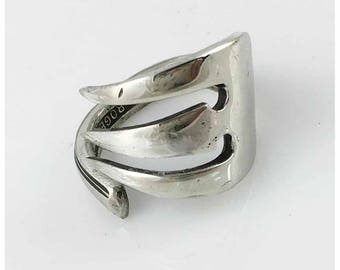 Repurposed Silverplate Fork Ring