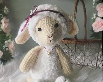 Amigurumi lamb, lamb plushy, lamb stuffed animal, amigurumi sheep, sheep plushy, sheep stuffed animal