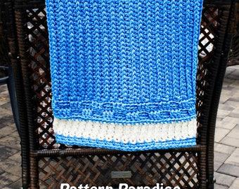 Crochet Pattern Baby Blanket, Afghan, Throw, Blanket Bennington, Baby Gift, Knit Look Crochet 17-339