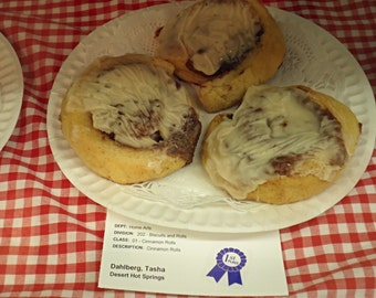 Homemade Cinnamon Rolls Fair Award-Winning!