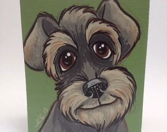 Dog Art - Dog Painting - Schnauzer - Schnoxie - Canine Art - Kids Room Decor - Animal Art - Pet Portrait - Animal Decor