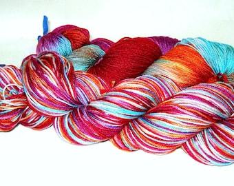 Field of Flowers  Umpqua Hand Dyed Fingering Weight Sock Yarn 4 oz  433 yards