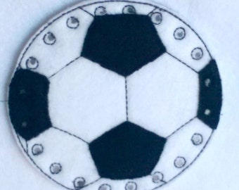 Soccer lacing card - sewing card- educational learning toy - fine motor skills - hand eye corrdination - #3874