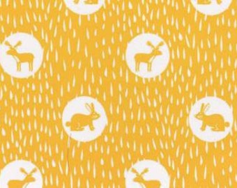 Midnight Animals Yellow//Dear Stella//Stella-561//Quilters Cotton//Available 4/20/16