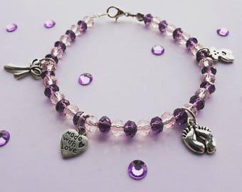 "Beaded Bracelet- ""It's A Girl"""
