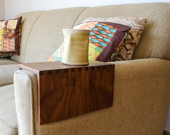 Custom Couch Arm Table - Simple Edition, Perfect Fathers Day Gift!  Sofa Arm Table, Living Room Home Decor