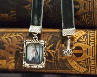 15 pk Custom Bookmark on Velvet Ribbon Frame or Mini Book