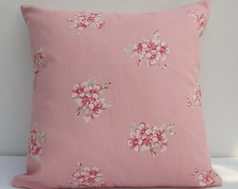 Pink Pillow  Cover, Cottage chic cushion cover, Pink  floral Cushion Cover, Cottage  chic,  Pillow Sham,  Cover Various Size Options