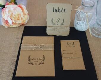 wedding invitation, wedding, wedding, wedding, country kit invitation, RSVP and envelopes
