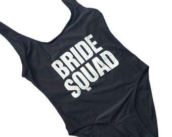 Ready to ship-Bride Squad Bathing suit, swim suit, one piece