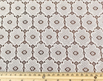 Natural Delicate Floral Pattern Lace Fabric by the yard - Julie Pattern - 1 Yard style 509