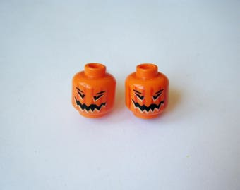 Earrings Lego heads pumpkins ♥ ♥ ♥
