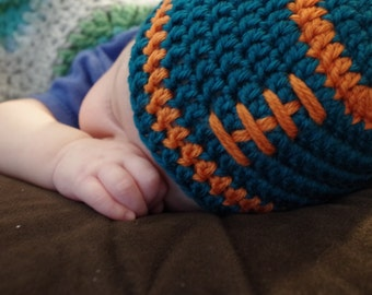 Baby Miami Dolphins Football Beanie Hat ONLY