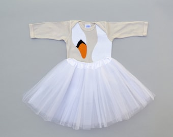 Baby Costume, Baby Girl Gift, Swan Dress, Kid Costume, Bjork Costume, Black Swan Costume, Bird Costume, Funny Baby Costume, Ballerina outfit
