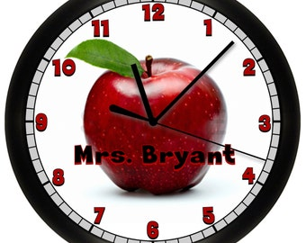 Personalized Teacher Apple Wall Clock