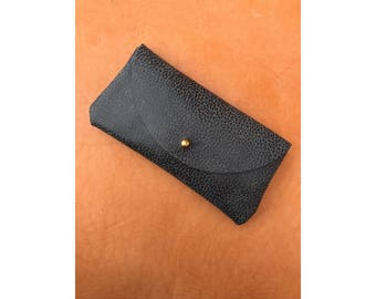 SALE • Limited Edition SUNNIES CASE Pebbled Gray • Sunglasses Pouch or Wallet