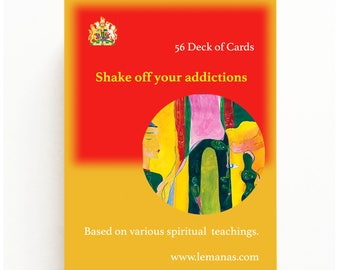 56 Deck of cards ( Poker size ) Recovery for Addiction or Addictive Behaviours