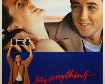 Say Anything 27x40 Movie Poster 1989 John Cusack