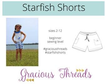 Starfish Shorts pdf sewing pattern