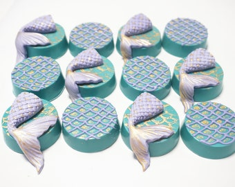 Mermaid Purple Teal w/ gold accents Chocolate Covered Oreos