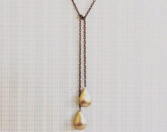 locket necklace   double locket brass lariat teardrop   portland oregon   simple everyday jewelry   brass jewelry   lariat locket necklace