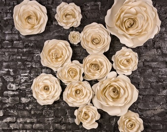 Paper Flower Backdrop - Large Paper Flowers - Giant Flowers - Paper Flower Decoration - Wedding Backdrop - Giant Paper Rose