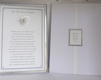 Personalised Wedding Poem to Daughter or Son On her/his  Wedding Day Boxed A4 Size