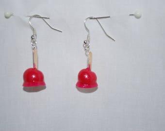 Earrings Gourmet candy Apple
