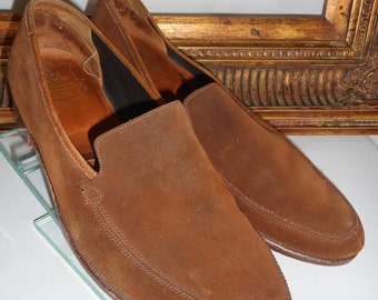 Vintage New & Lingwood Brown Suede Loafers - Size 11 or 11 1/2