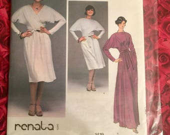 70's Vogue French Boutique Sewing Pattern Designer Renata