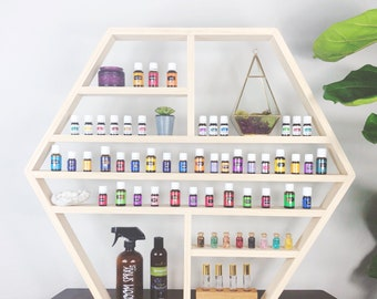Large Hexagon Essential Oil Shelf