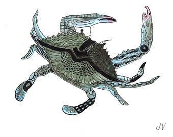 Lady Blue Crab (print)