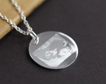 Ultrasound Picture Pendant Necklace Custom Engraved for New Mom, Pregnancy Jewelry, Gender Reveal Gift, Baby Shower Gift