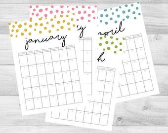 2018 Calendar 5x7 - Printable