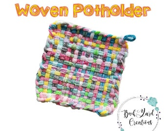 Granny's Woven Cotton Potholder, POTHOLDERS, Ready to Ship