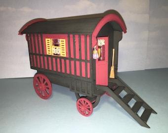 Gypsy Caravan 1/12th scale Kit Dolls house one inch scale kit