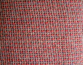 Rust Boucle Wool Blend Fabric Wool Polyester Blend, Fabric by the Yard, Sewing Fabric