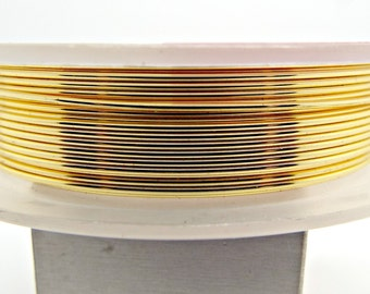 20 Gauge Gold Wire, 6 Metres, 0.8mm Wire, Gilt Copper Wire, Jewelry Wire, Gold Wire Jewelry, Wire Wrapping, Craft Wire, UK Seller