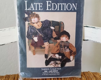 """Vintage Dream Spinners Muslin Doll Sewing Kit 27"""" Late Edition Dolls 1991"""