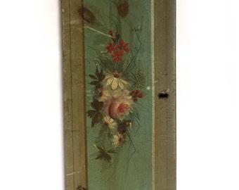 Antique Civil War Era Pine Dresser Drawer Front - Original Paint - Wall Hanging