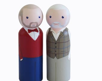 Couple family portrait -personalised family portrait figures