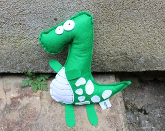Wool Felt T-Rex, Handmade Stuffed Toy - Made to Order