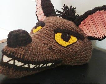 Crochet Janja Hyena Hat - crochet Lion King costume hats - crochet animal hats for boys or girls