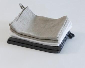Heavy Linen Hand Towels - Set of 2 - More colours