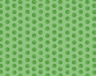 Subtle Dots - Green 8147-G Maywood Studio Cotton Fabric Yardage