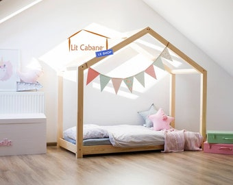 Montessori ROMA natural cabin bed - with or without barriers