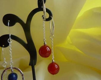 Genuine CARNELIAN GEMSTONE earrings