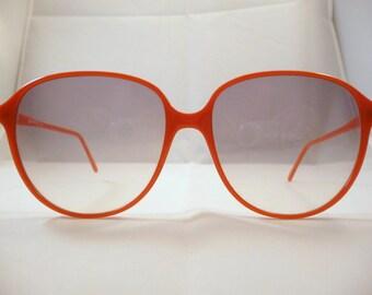 Vintage Sunglasses oversized  1980s Gambini Round Orange frames