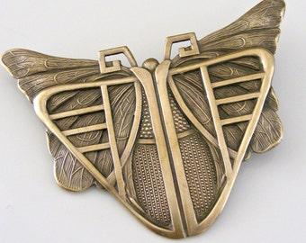 Vintage Brooch - Art Deco Brooch  - Butterfly Jewelry - Statement Jewelry - Vintage Brass Jewelry - handmade jewelry