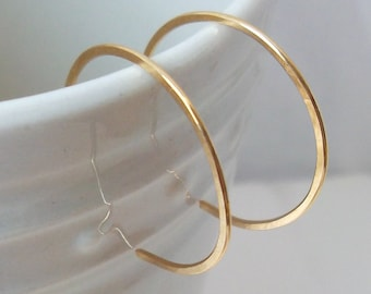 Tiny Hoop Earrings, Gold Fill Hoops, Handmade Earrings